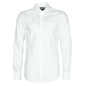 material Men long-sleeved shirts G-Star Raw DRESSED SUPER SLIM SHIRT LS White