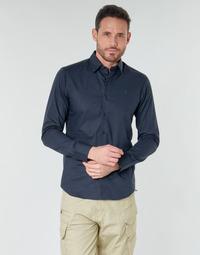 material Men long-sleeved shirts G-Star Raw DRESSED SUPER SLIM SHIRT LS Mazarine / Blue