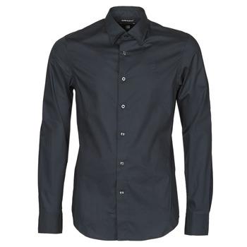 material Men long-sleeved shirts G-Star Raw DRESSED SUPER SLIM SHIRT LS Black