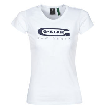material Women short-sleeved t-shirts G-Star Raw GRAPHIC 20 SLIM R T WMN SS White