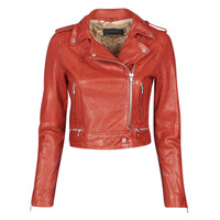 material Women Leather jackets / Imitation leather Oakwood KYOTO Red