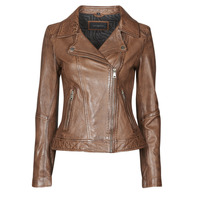 material Women Leather jackets / Imitation leather Oakwood FOLLOW Cognac