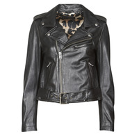 material Women Leather jackets / Imitation leather Oakwood RADIO Black