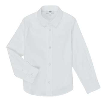 material Boy long-sleeved shirts BOSS J25P16 White