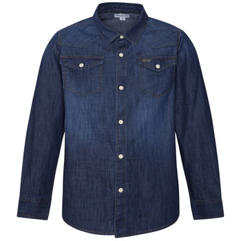 material Boy long-sleeved shirts Pepe jeans JHON Blue