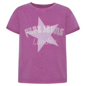material Girl short-sleeved t-shirts Pepe jeans RACHEL Pink