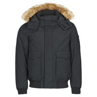 material Men Parkas Calvin Klein Jeans FUR TRIMMED DOWN JACKET Black