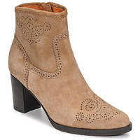 Shoes Women Ankle boots Mam'Zelle OIRON Beige