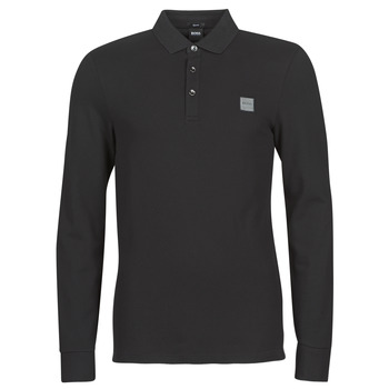 material Men long-sleeved polo shirts BOSS PASSERBY Black