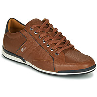 Shoes Men Low top trainers BOSS SATURN LOWP TBPF1 Brown