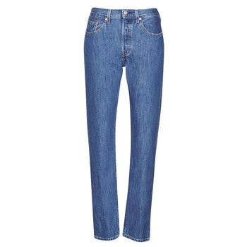 material Women Boyfriend jeans Levi's 501 CROP Breeze / Stone