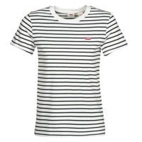 material Women short-sleeved t-shirts Levi's PERFECT TEE Cloud / Dancer