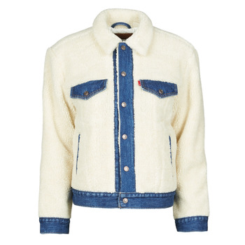 material Women Denim jackets Levi's EX BF PIECED TRCKR Counting / Sheep