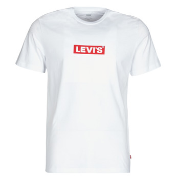 material Men short-sleeved t-shirts Levi's BOXTAB GRAPHIC TEE White