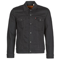 material Men Denim jackets Levi's THE TRUCKER JACKET Black