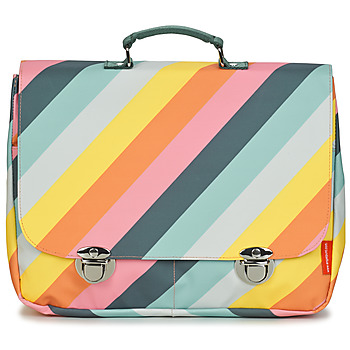 Bags Girl Satchels Engel SCHOOLBAG LARGE STRIPE RAINBOW Multicolour