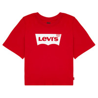 material Girl short-sleeved t-shirts Levi's LIGHT BRIGHT CROPPED TEE Red