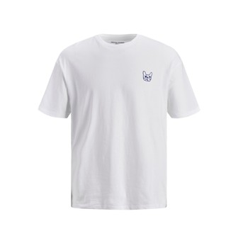 material Boy short-sleeved t-shirts Jack & Jones JJAARHUS TEE White