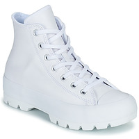 Shoes Women High top trainers Converse CHUCK TAYLOR ALL STAR LUGGED LEATHER HI White