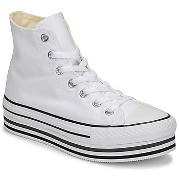 Shoes Women High top trainers Converse Chuck Taylor All Star Platform Eva Layer Canvas Hi White