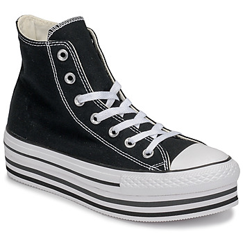 Shoes Women High top trainers Converse Chuck Taylor All Star Platform Eva Layer Canvas Hi Black