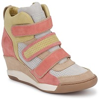 Shoes Women High top trainers Ash ALEX CORAL / Yellow / TAUPE