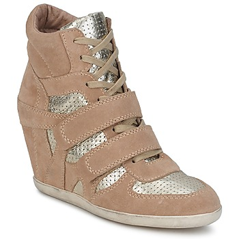 Shoes Women High top trainers Ash BEA BEIGE / GOLD