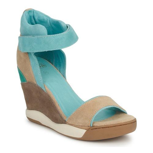 Shoes Women Sandals Ash HELOISE Brown / Blue
