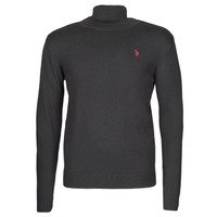 material Men jumpers U.S Polo Assn. JON HIGH COLLAR KNIT Black