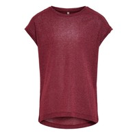 material Girl short-sleeved t-shirts Only KONSILVERY Bordeaux