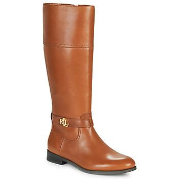 Shoes Women Boots Lauren Ralph Lauren BAYLEE Cognac