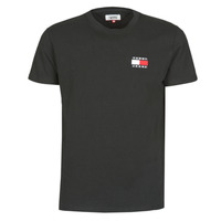 material Men short-sleeved t-shirts Tommy Jeans TJM TOMMY BADGE TEE Black