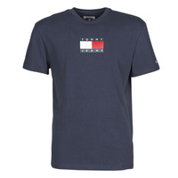 material Men short-sleeved t-shirts Tommy Jeans TJM SMALL FLAG TEE Marine