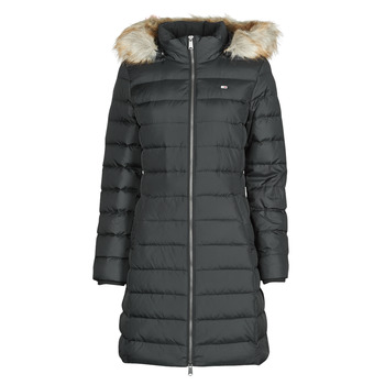 material Women Duffel coats Tommy Jeans TJW ESSENTIAL HOODED DOWN COAT Black