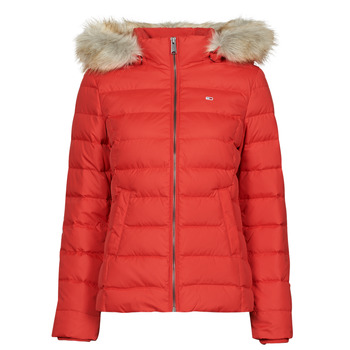 material Women Duffel coats Tommy Jeans TJW BASIC HOODED DOWN JACKET Red