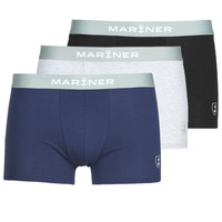 Underwear Men Boxer shorts Mariner PACK COTON BIO Black / Marine / Grey