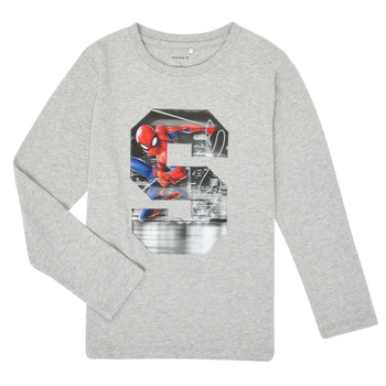 material Boy Long sleeved shirts Name it NMMSPIDERMAN Grey