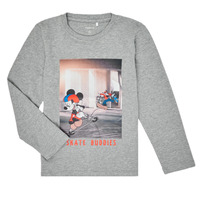 material Boy Long sleeved shirts Name it NMMMICKEY EMIL Grey