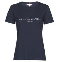 material Women short-sleeved t-shirts Tommy Hilfiger NEW TH ESS HILFIGER C-NK TEE SS Marine