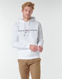 material Men sweaters Tommy Hilfiger TOMMY LOGO HOODY White