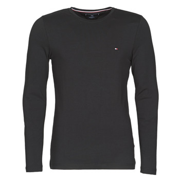 material Men Long sleeved shirts Tommy Hilfiger STRETCH SLIM FIT LONG SLEEVE TEE Black