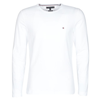 material Men Long sleeved shirts Tommy Hilfiger STRETCH SLIM FIT LONG SLEEVE TEE White