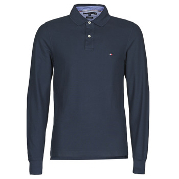 material Men long-sleeved polo shirts Tommy Hilfiger HILFIGER SLIM LS POLO Marine