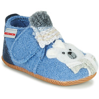 Shoes Children Slippers Giesswein OLDENBURG Blue