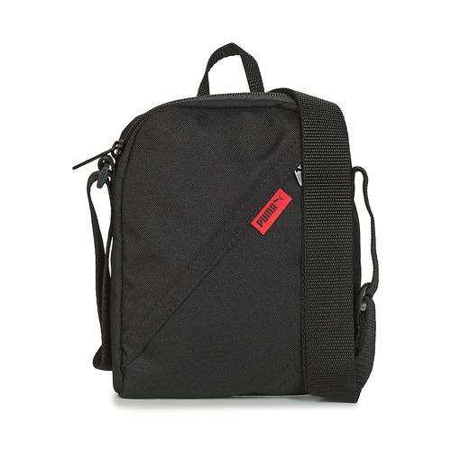Bags Men Pouches / Clutches Puma CITY PORTABLE Black / Red