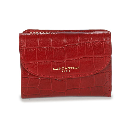 Bags Women Wallets LANCASTER EXOTIC CROCO Red