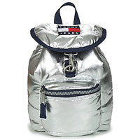 Bags Women Rucksacks Tommy Jeans TJW HERITAGE SM PUFFER BACKPACK Silver