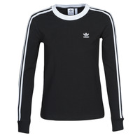 material Women Long sleeved shirts adidas Originals 3 STR LS Black