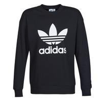 material Women sweaters adidas Originals TRF CREW SWEAT Black