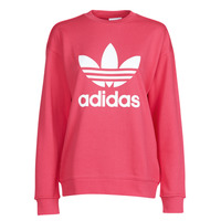 material Women sweaters adidas Originals TRF CREW SWEAT Pink